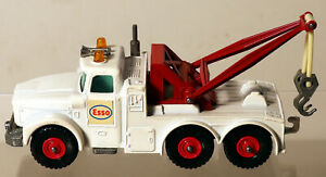 DTE LESNEY MATCHBOX KING SIZE K-2 WHITE SCAMMELL ESSO WRECK TOW TRUCK