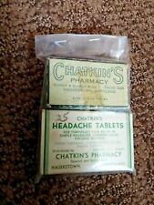 Hagerstown Md. Collectible (Pill Boxes From Chatkin'S Pharmacy)