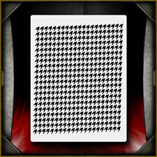 Houndstooth Pattern Airbrush Stencil Template Paint Airsick