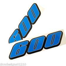 600 GSXR SRAD autocollants pour Moto personnalisé graphiques x 2 Bleu