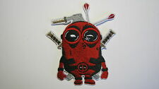 DESPICABLE ME MINION DEADPOOL SUPERHERO EMBROIDERED PATCH  SEW OR IRON ON MARVEL