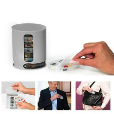 CO_ 7 Day Pill Wallet Medication Box Organiser Holder Storage Pill Dispenser Exo
