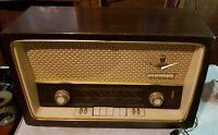 ( JUST REDUCED) VINTAGE 1950's GRUNDIG AM/FM/SW Tube Radio Model 3059