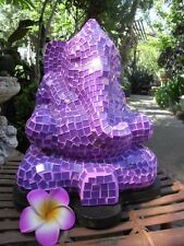 Mosaic Ganesha Table Lamp (purple tiles) one only