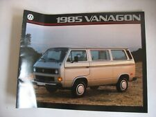 Introducing 1985 VW Vanagon Book