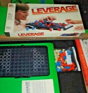 LEVERAGE - Strategy Game - Vintage Milton Bradley - Pivot Balance Weight 80s IQ