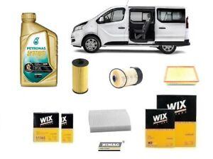 Servicekit Filter + 8 Liter Öl von Fiat Talento 1.6 D 92 Kw 125 HP