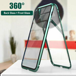 360 °Case For iPhone 11 Pro XS Max XR Magnetic Adsorption Tempered Glass Cover