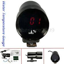 37mm Black Car Digital LED Water Temp Temperature Gauge Meter Pointer + Sensor