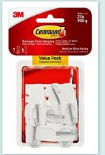 (3 Boxes) Command Medium Wire Toggle Hook Value Pack, White, 7-Hooks 17065-Vpes