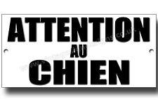 BEWARE OF THE DOG METALLSCHILD,HUNDERASSEN,SICHERHEIT,WARNSCHILD (FRANZÖSISCH)