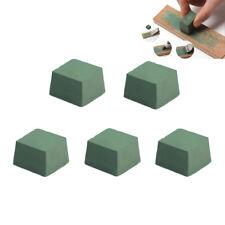 5pcs 30x30mm Green Metal Grinding Buffing Compound Polishing Paste DIY Craft