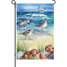 "Shore Birds (12"" x 18"" Approx ) Garden Size Flag Pr 51088"