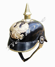 Leather Helmet Prussia - German Officer Pickelhaube Helmet