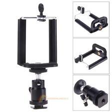 Camera Tripod Light Flash Bracket Mount 1/4 Adapter Ball Head With Phone Holder