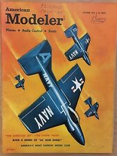AMERICAN MODELER Magazine October 1959 U.S. Navy Blue Angels cover painting
