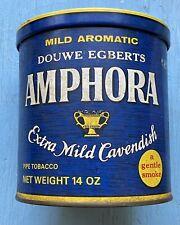 Vintage Pipe Tobacco Tin AMPHORA DOUWE EGBERTS 14 OZ. Tobacciania Very Good Cond