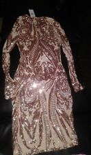 Gold sequin dress size L