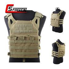 SWAT Military Tactical JPC Molle Vest Lightweight Plate Carrier Vest Combat Tan