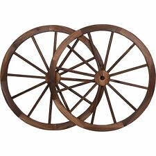 Wagon Wheel Wall Decor 36in steel-rimmed wagon wheels decorative wall decor set of two