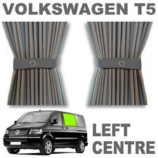 VW T5 Curtain Kit - GREY - Left Centre (sliding door) VWT5 Campervan Curtains