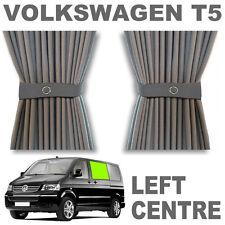 Vw T5 Cortina Kit-Gris-izquierda Centro (puerta corredera) vwt5 Para Cortinas