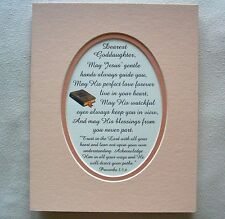 GODDAUGHTER BAPTISM Love JESUS HANDS Guide TRUST LORD HEART poems verses plaques