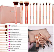 BH Cosmetics 11 Piece Professional Metal Rose Brush Set With Cosmetic Bag