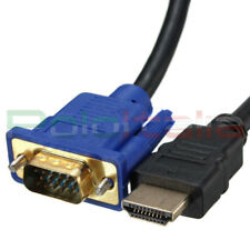 Cavo 1,8m da HDMI a VGA cavetto adattatore per computer pc notebook monitor tv