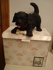Stone Critter Black Lab Coin Bank #SCH-0012