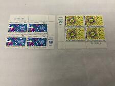 United Nations Stamps MI Block Of 4 1983 Set Scott 392-398, 415-416