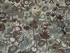 """LIBERTY OF LONDON TANA LAWN FABRIC DESIGN """"Pinky"""" 2 METRES (200 cm) GREYS/BROWNS"""