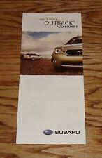 Original 2007 Subaru Outback Accessories Foldout Sales Brochure 07