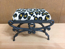 Barbie My Scene Chelsea Style Getting Ready Leopard Animal Print Vanity Stool