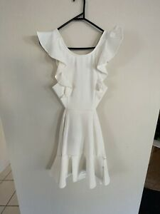Angel Biba White Frill Dress