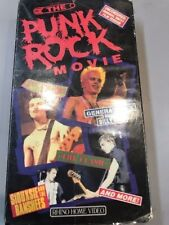 PUNK ROCK MOVIE VHS NEVER ON DVD NTSC RHINO SEX PISTOLS CLASH SLITS SIOUXSIE OOP