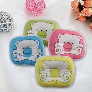 Newborn Baby Pillow Cushion Prevent Flat Head Sleep Bear Pattern Anti Roll Safe