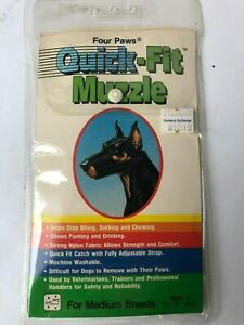 Quick -Fit DOG MUZZLE for Medium Breeds size ~FOUR PAWS BRAND~