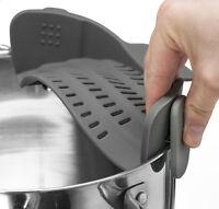 Kitchen Gizmo Snap 'N Strain Strainer - Clip On Colander, Fits all Pots & Bowls