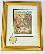 Elephant Clown Bath Emmett Kelly Circus Collection Hand Signed Numbered Framed