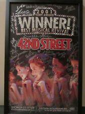42ND BROADWAY MUSICAL SIGNED FRAMED POSTER FORD CENTER NY TONY WINNER