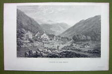 GERMANY Village of Oker in Harz - 1820s Copper Engraving by Cpt. Batty
