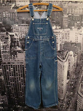 90s Tommy Hilfiger 6X Teen Overalls Jeans Flag Sport Aaliyah Polo NYC HipHop VTG