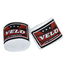 VELO Hand Wraps Bandages Boxing Inner Gloves Muay Thai MMA Mexican Stretch White