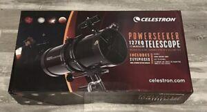 Celestron 127EQ PowerSeeker Telescope 127mm Fully Coated Lens Ships Fast NOB