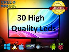 30 RGB CREE UltraBright LEDs LightPack strip TV backlight usb Ambilight Boblight