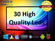 30 RGB CREE UltraBright LEDs LightPack strip TV backlight usb Ambilight Boblight