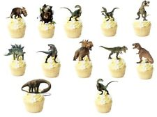 Dinosaurio CLÁSICO 12 Stand Up Comestible Cupcake Topper Comestible Decoraciones * precortadas *