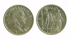 171) Regno Vittorio Emanuele III (1900-1943)  20 Lire 1927 Littore