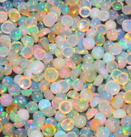 4 mm Round Natural Ethiopian Fire Opal Natural Gemstone Lot  25/50/100/500 Pcs
